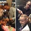 Un salon de coiffure enseigne aux papas comment coiffer leurs filles